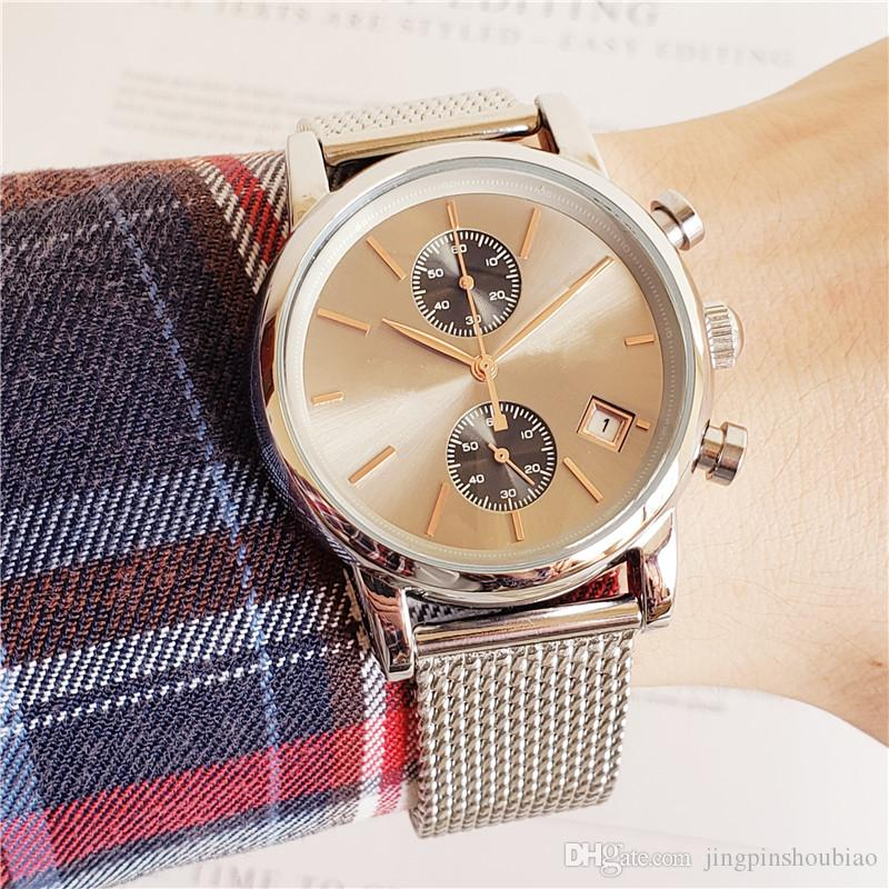 Nuovi orologi da uomo Top Brand Luxury boss Famous Watches Moda Casual Leather Men Orologi al quarzo Orologio Uomo Il miglior regalo