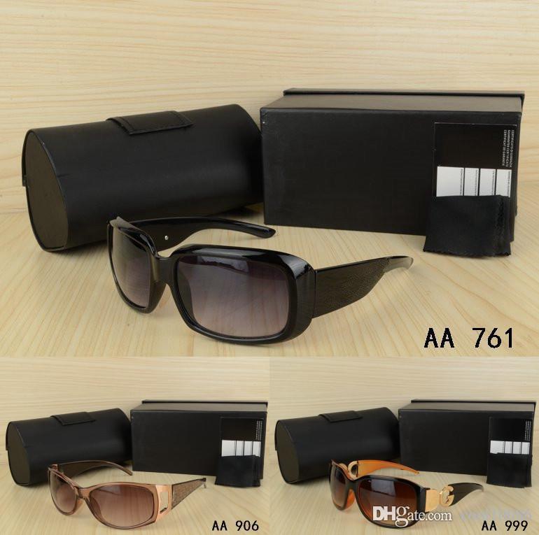 Vintage para hombre Marca mujer Gafas de sol con la caja de la lente que conduce las lentes clásica de lujo elegante de la pesca Estilo de conducción Gafas gafas al aire libre
