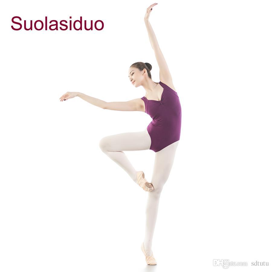 Yetişkin Jimnastik Takım Elbise Bale Sahne Performansı Tek Parça Tayt Pactise Giyim Yüzme Suit Yoga Bale Dans Mayoları Giymek