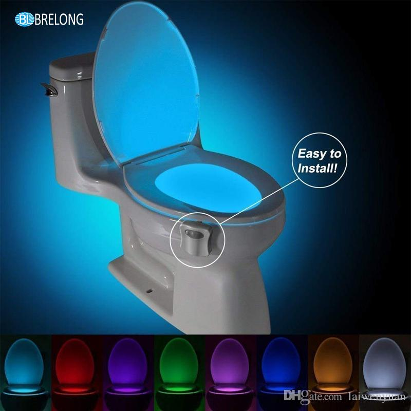 16 Color LED Night Light Intelligent RGB Light Control Induction PIR Motion Sensor Home Toilet light Lamp Bathroom Lighting