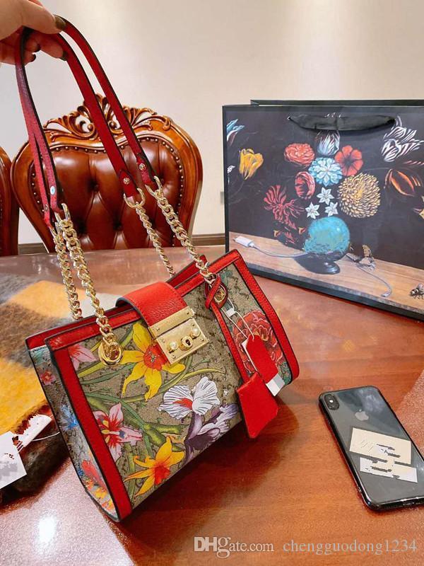 السيدة زهرة واحدة حقيقية الجلود حقائب اليد حقائب الكتف حقيبة الطباعة سلسلة التسوق استعادة سبل القديمة بنات المرأة