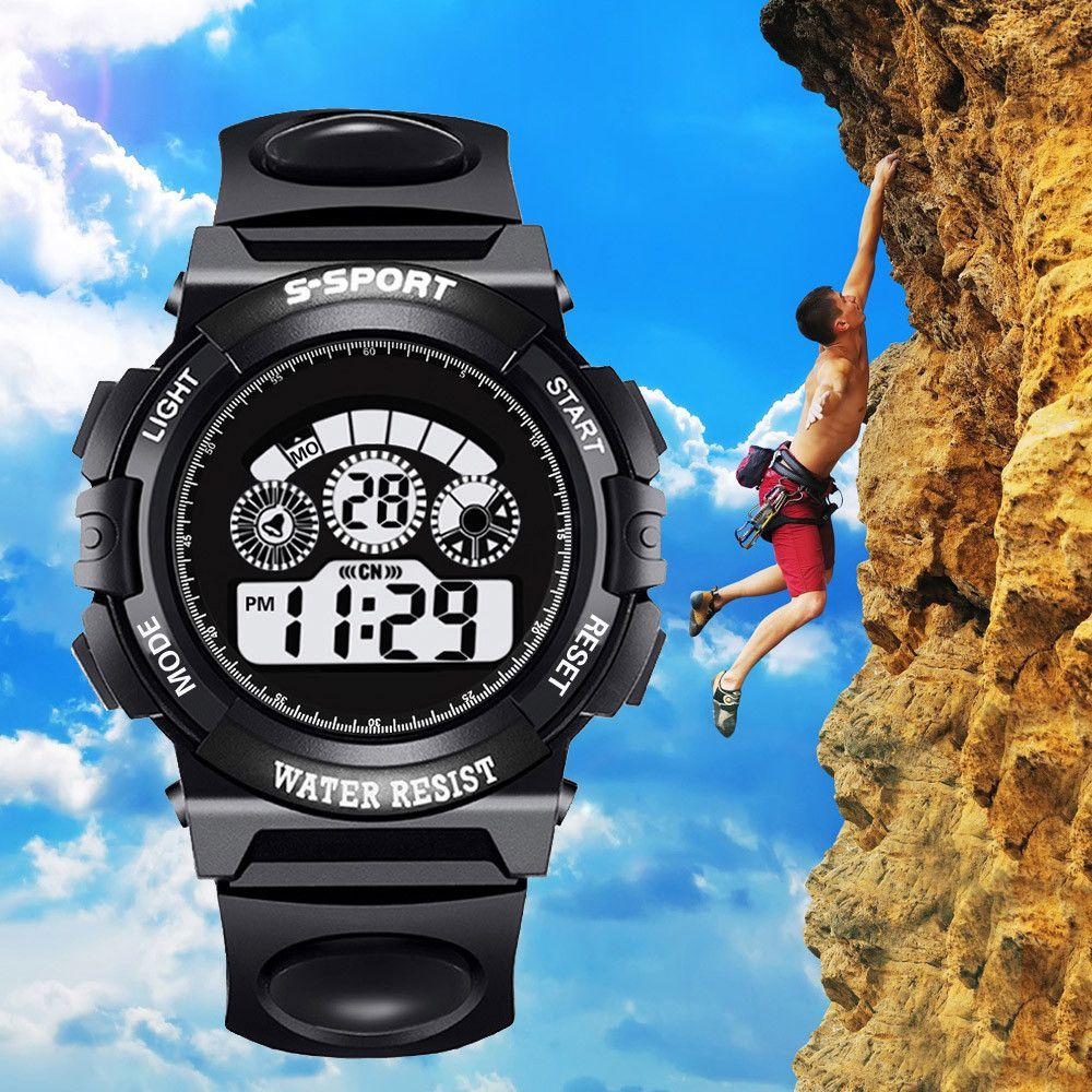 12019 New Fashion Men Watches Analog Digital Military Army Sport Man Led Waterproof Wrist Watch Male Outdoors Clock