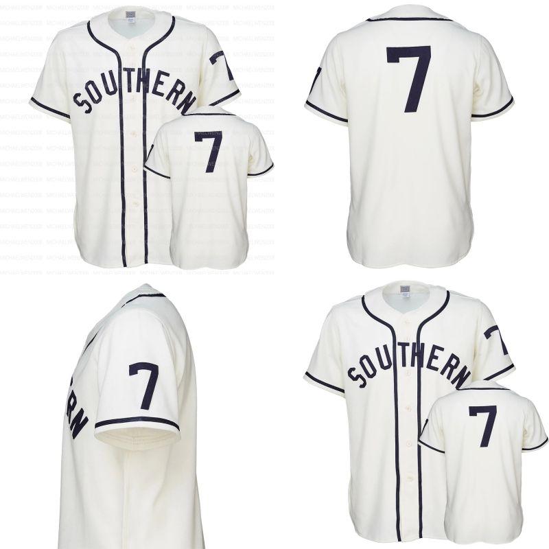 SUBR SU SOUTHER JAGUARS Y LADY JAGUARS 1959 HOME JERSEY 100% Bordado cosido Vintage Jerseys de béisbol de la costumbre Envío gratuito