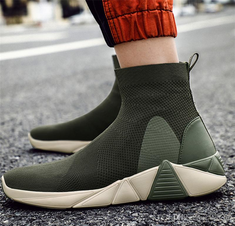 Top 2020, com Boxladies calçados esportivos outono e inverno selvagem leves Womes moda casual sapatos cor de rosa preto totalidades verdes