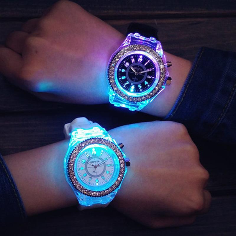 Women Mens Watch LED luci Top Brand Brand Luxury Unico Luminescente Orologio femminile Reloj Mujer Relogio Feminino Signore Guarda Signore Relogios Alta qualità