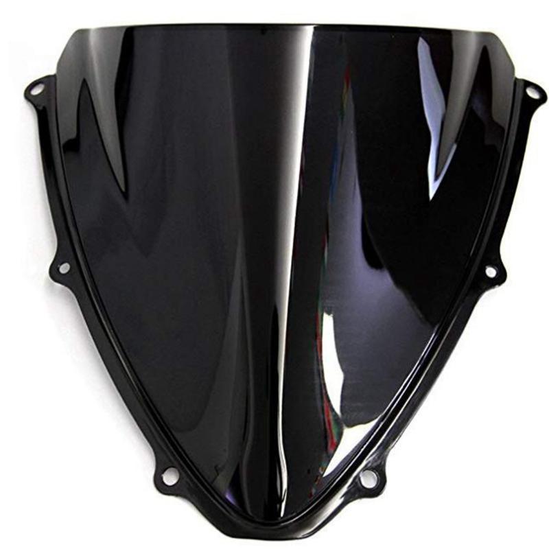 الزجاج الأمامي للGSXR 600 750 K6 2006 2007 GSXR600 GSXR750 مزدوجة فقاعة الزجاج العاكس الرياح الرياح الفاصل