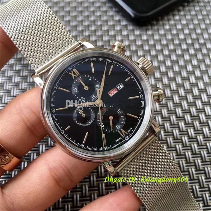 2019 best selling cronógrafo relógio de aço inoxidável movimento de quartzo japonês pulseira de aço inoxidável dos homens dos esportes relógio dos homens