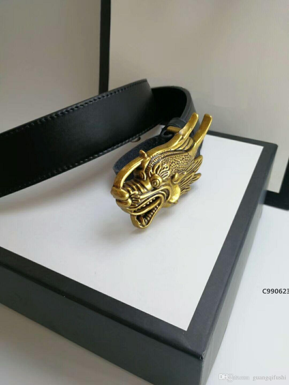 ouro novo estilo europeu forma torneira correias dos homens da correia de alta qualidade cinto de couro lisa e plana fivela com caixa C990623