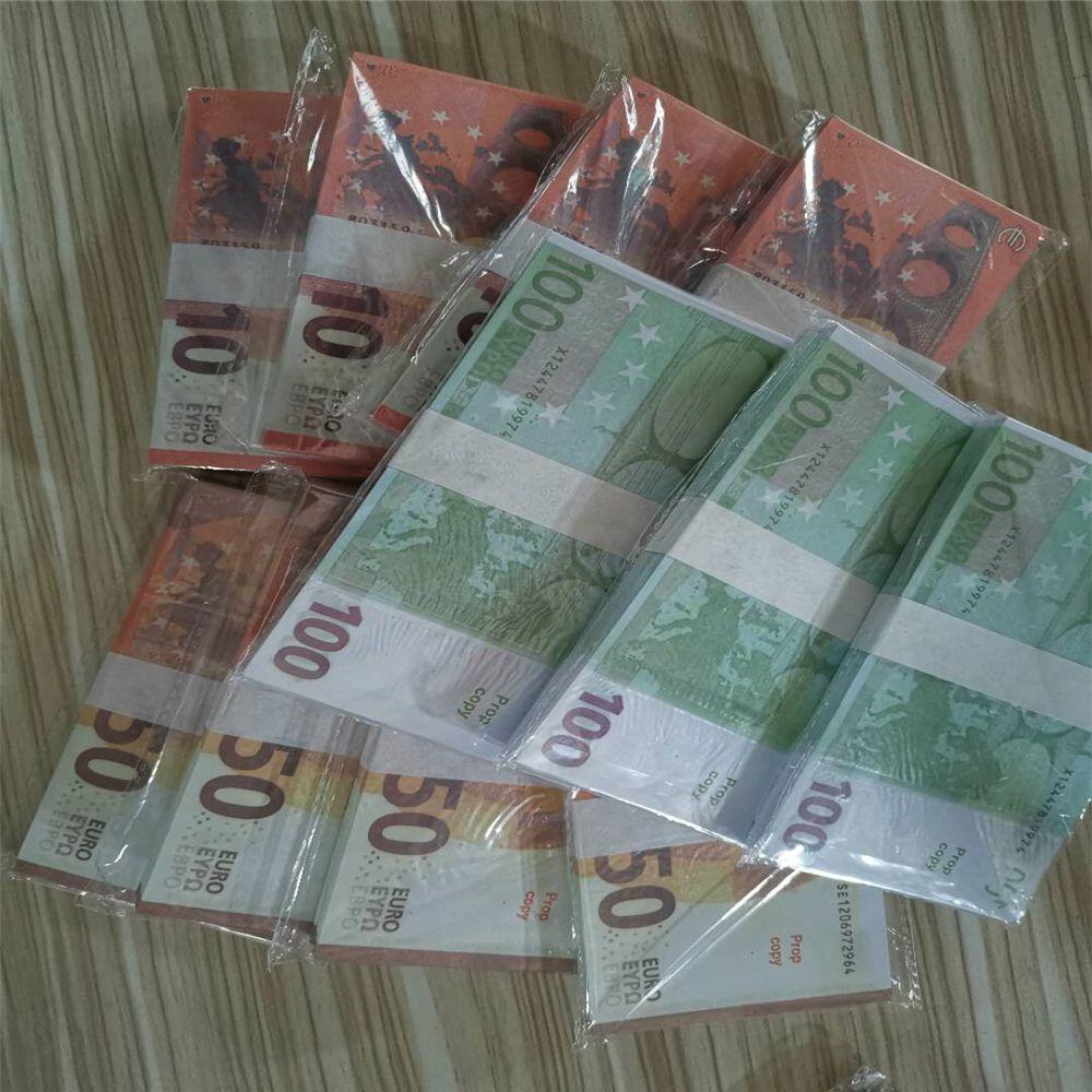 Nova 10 20 50 100 Euro dinheiro falso boleto dinheiro Filme falso boleto do euro 20 jogo Recolha e Presentes M08