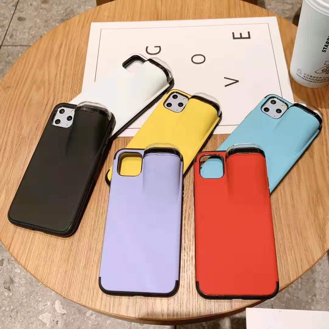 Diseñador de lujo con el auricular del teléfono celular Caja de almacenamiento 2 en 1 caso para Airpods Pro 1/2 iPhone SE 2020 11 Pro Max XS XR Max X 8 7 6 Plus Cubierta