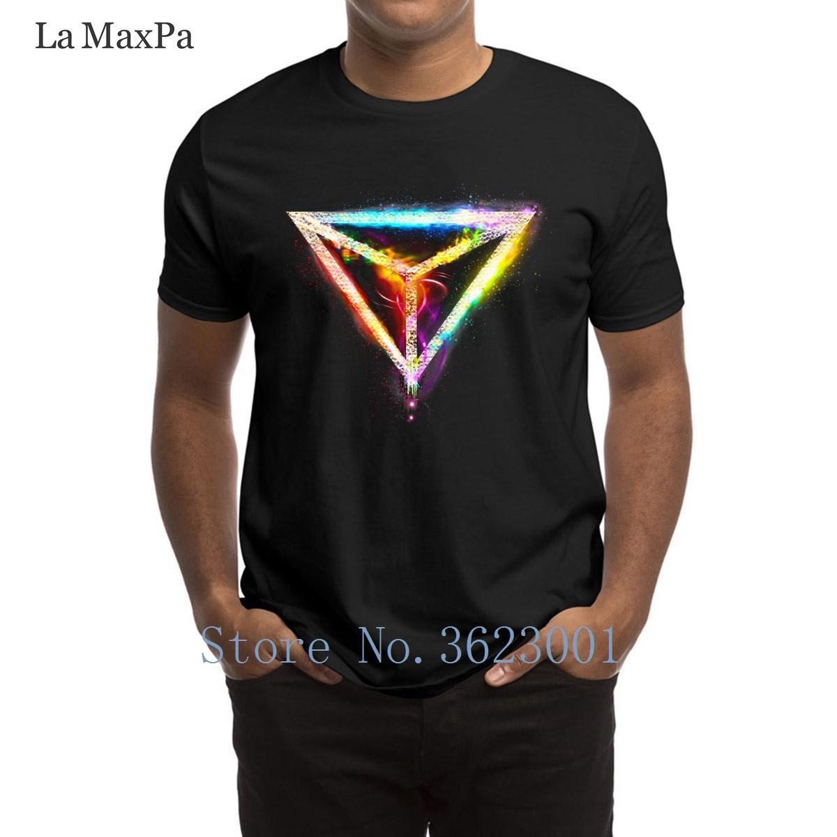 Baskılı Normal Erkek Tişört Ejder Gözü Neon Erkekler T Shirt Komik Homme Tee Gömlek Man Popüler Euro Boyut Tshirt Man Ucuz