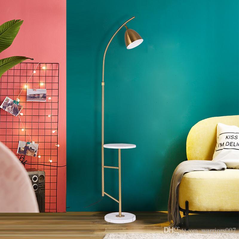 2020 Nordic Ins Floor Lamp Living Room Tea Table Vertical Desk Lights Luxury Led Bedroom Floor Lamps Gold Home Decor Light Fixtures From Warriors007 162 32 Dhgate Com