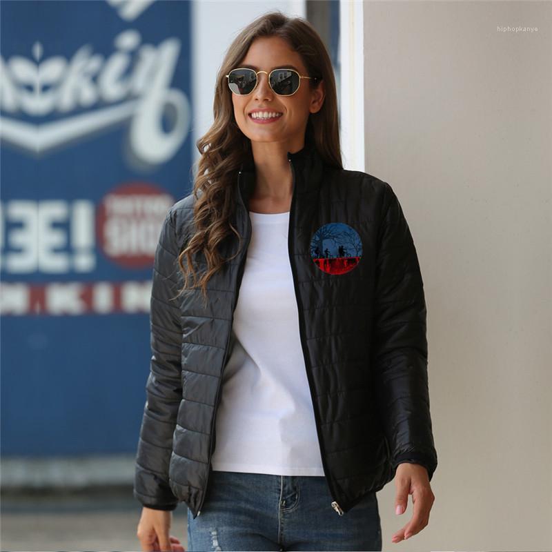 Giaccone Designer Stampato Warm Abbigliamento casual manica lunga di modo delle donne cappotti di inverno Stranger cose che le donne