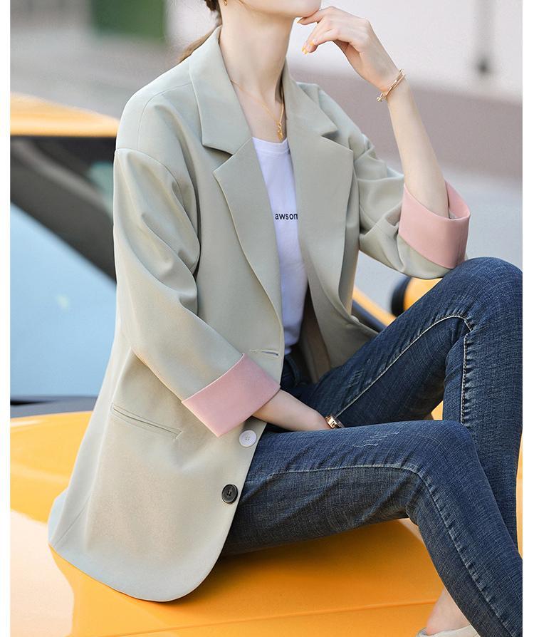 Licht Green Slim Fit Damen Blazer Jacke für Frauen-beiläufige Mantel-Outwear der Sommer-Dame-Anzug-Blazer Mädchen Clothesing 2020