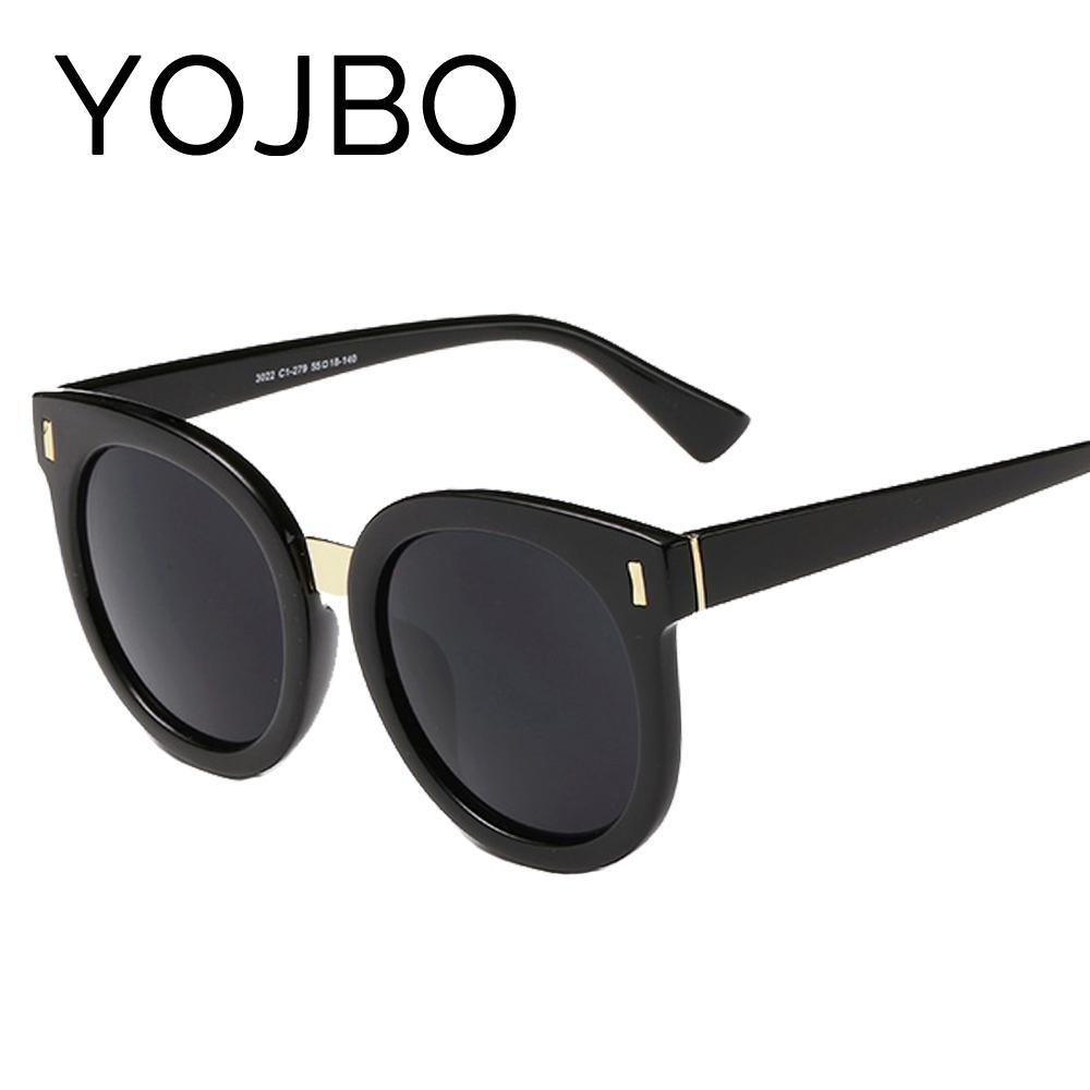 YOJBO Round Sunglasses for Women 2019 Gafas De Sol HD Sun Glasses Fashion Brand Ladies Glass UV400 Black Eyewear