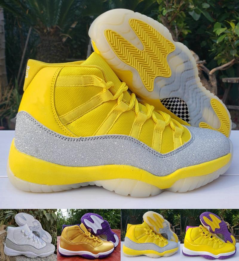 2020 Designer 11 XI WMNS plata metálico amarillas 3s 4s 11s 13s camaleón zapatos de baloncesto del Mens negro púrpura las zapatillas de deporte de Jumpman Deportes
