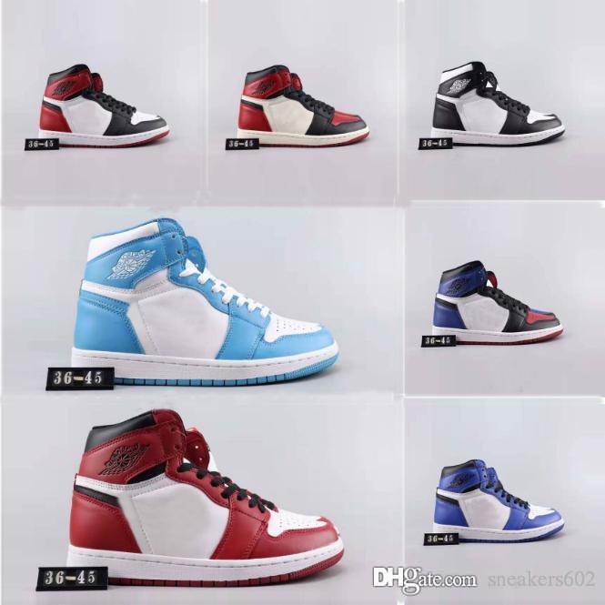 Yeni 1 Yüksek OG Bred Burun Chicago Yasaklı Oyun Kraliyet Basketbol ayakkabı erkekler 1s İlk 3 Shattered Arkalık Gölge Çok renkli Sneakers