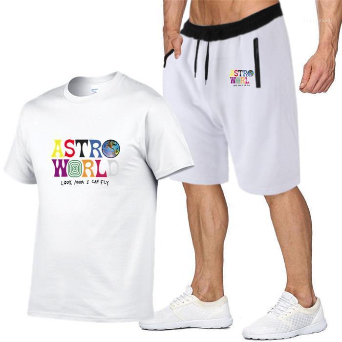 Fatos Masculino Camisetas Designer Carta respirável Suit Casual T Shirt Mens Womens T-shirt de manga curta Calças Curtas 2pcs Algodão Suit