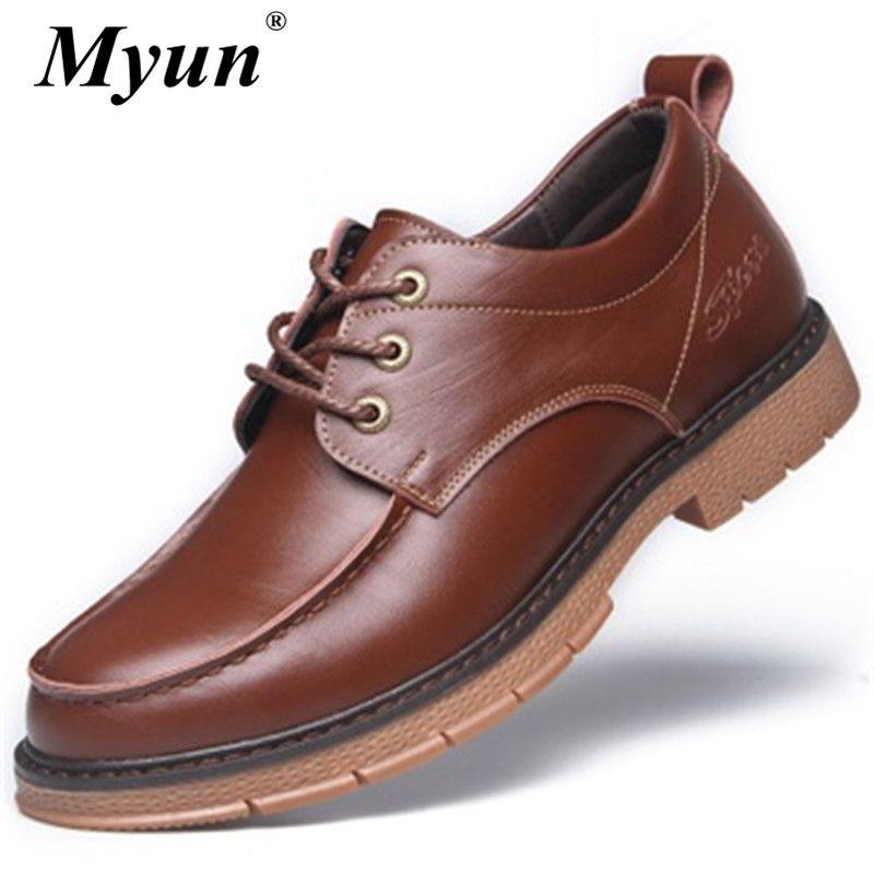 Primavera Autunno uomini del cuoio genuino pattini casuali degli uomini Oxfords scarpe da lavoro per la sicurezza invernale impermeabile dimensioni caviglia Botas 38-44
