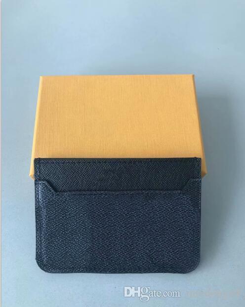 Mens Classic Design casuale titolare della carta di credito di identificazione del cuoio di qualità di Hiqh ultra sottile Portafoglio Packet borsa per Mans Womans portachiavi