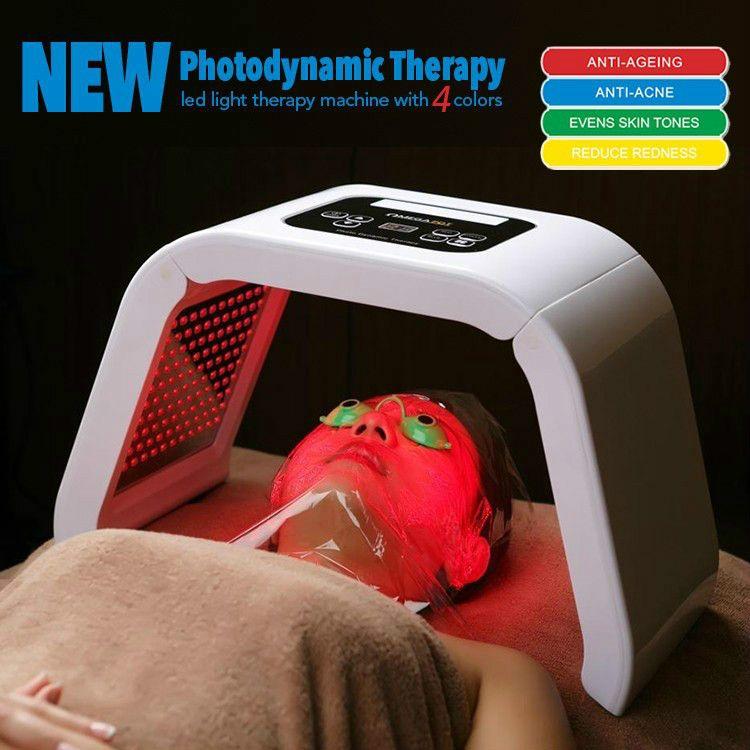 LED Facial Mask PDT Light 4 Light Skin Therapy Beauty Machine For Face Skin Rejuvenation Salon Beauty Equipment RRA689