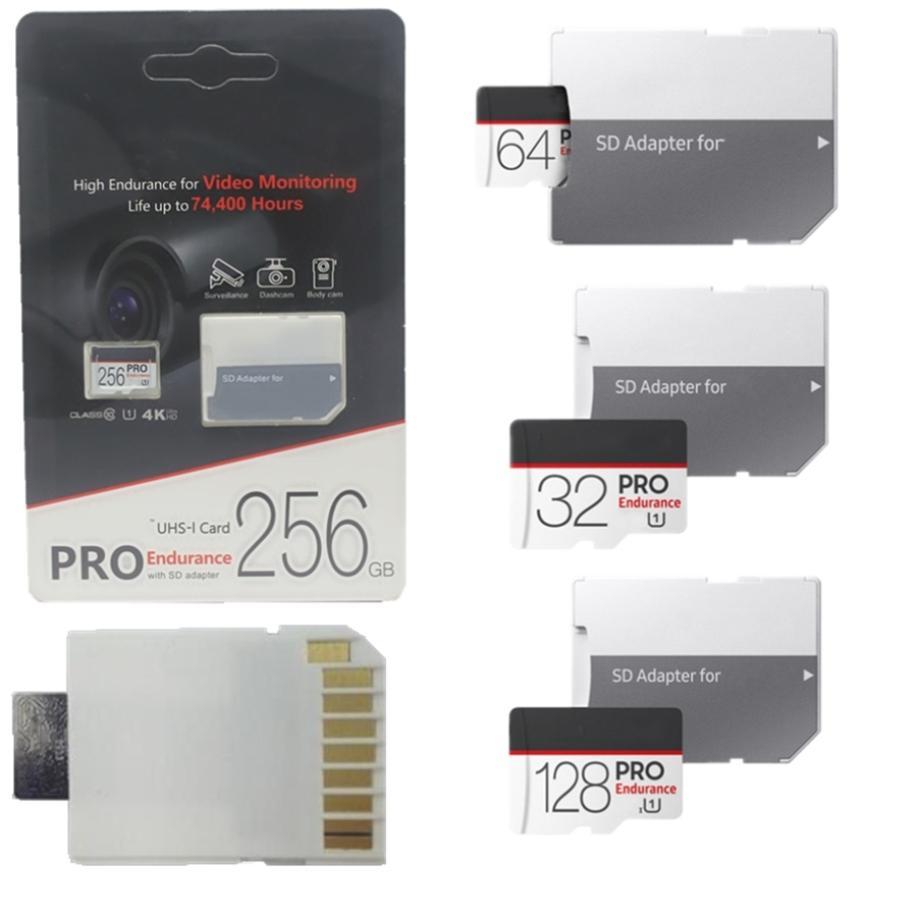 2020 뜨거운 32GB 64GB 128GB 256GB 마이크로 SD 카드 TF 메모리 카드 클래스 10 새로운 EVO + UHS-I 카드 어댑터 소매 패키지 30pcs