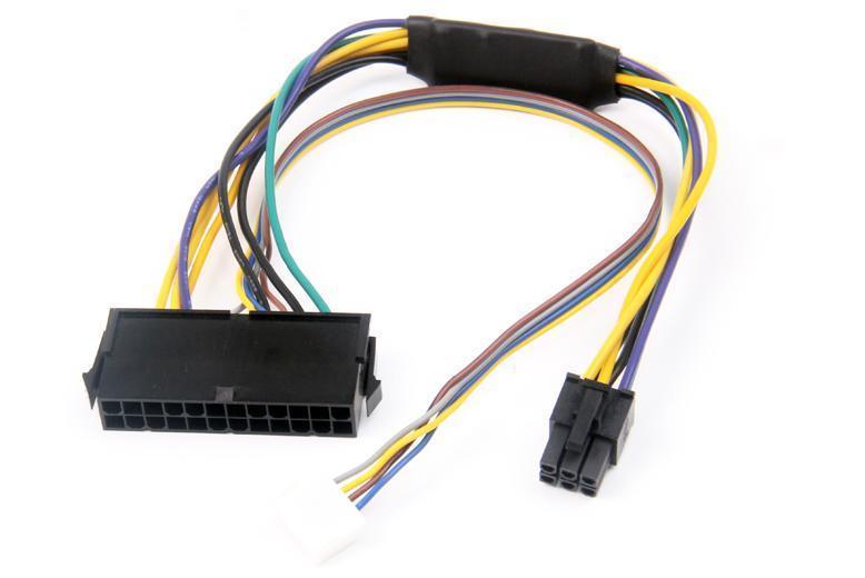 HP 8100 8200 8300 800G1 Elite 30CM 18AWG 100pcs DHL için ATX 24 pin 2-Liman 6Pin Güç Kaynağı Kablosu Anakart Bağlantı Adaptörü Kordon