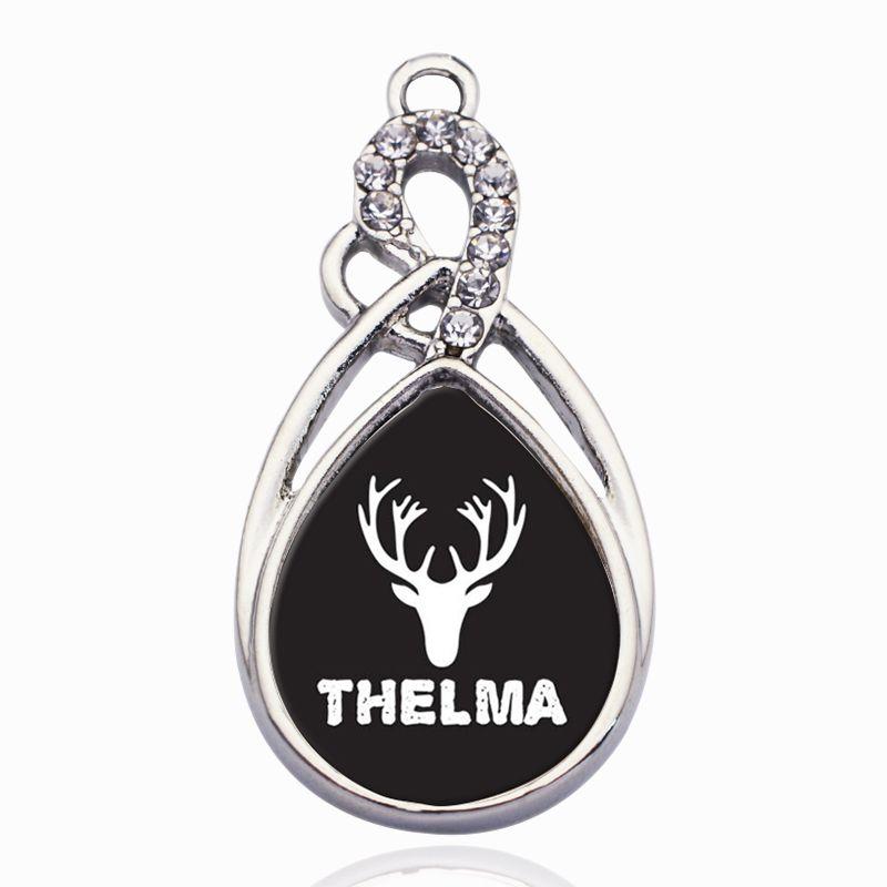 Thelma Circle Charm Charms Para DIY Collar / Pulsera / Gargantilla Colgante Flotante