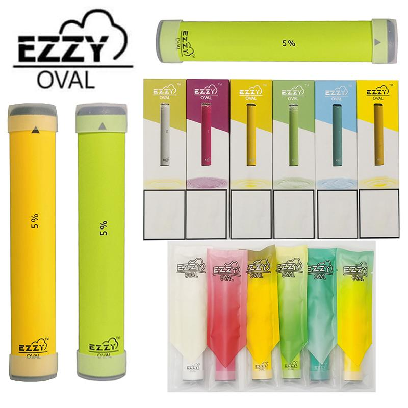 New EZZY OVAL Disposable e Cigarettes Starter Kits 280mah Battery 1.3ml Oil Cartridges Packaging Empty Vape Pens Device Pods Vaporizer Carts