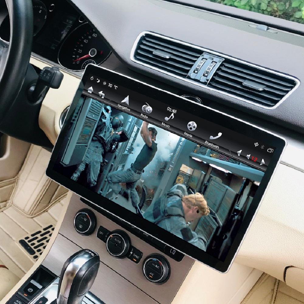 """4기가바이트 + 64기가바이트는 100 ° 회전 가능한 스크린 2 소음 12.8 """"6 코어 PX6 안드로이드 9.0 유니버설 자동차 DVD 플레이어 AutoRadio GPS 블루투스 5.0 WIFI 쉬운 연결을 IPS"""