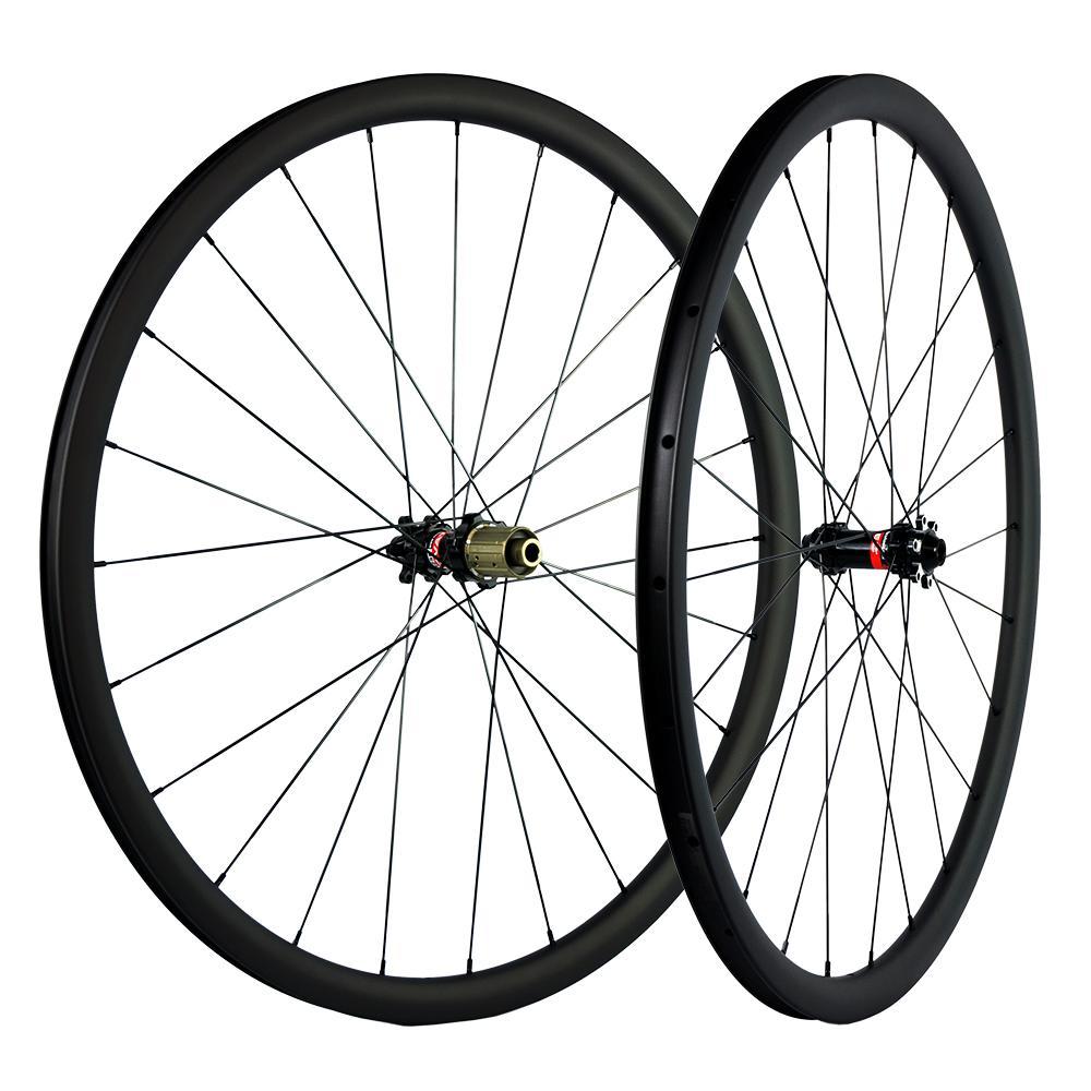 700c Clincher / Tubeless / Tubular Distribute Carbon Wheels 30mmm Depth 25mm Carbon Widd Carbon Wheels UD Matte Racing Wheels