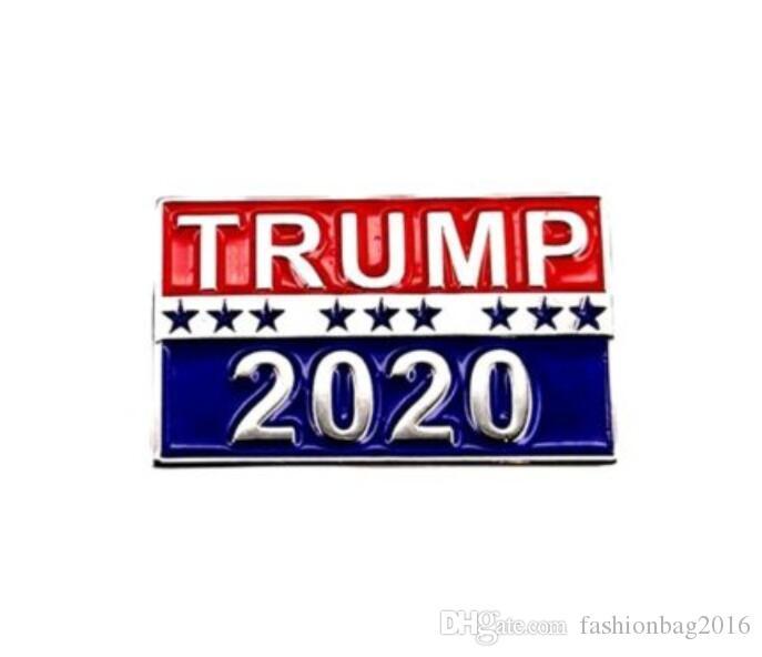 ترامب بروش 2020 دبابيس معدنية شارة زر القماش الولايات المتحدة رئيس حملة النساء الرجال المجوهرات
