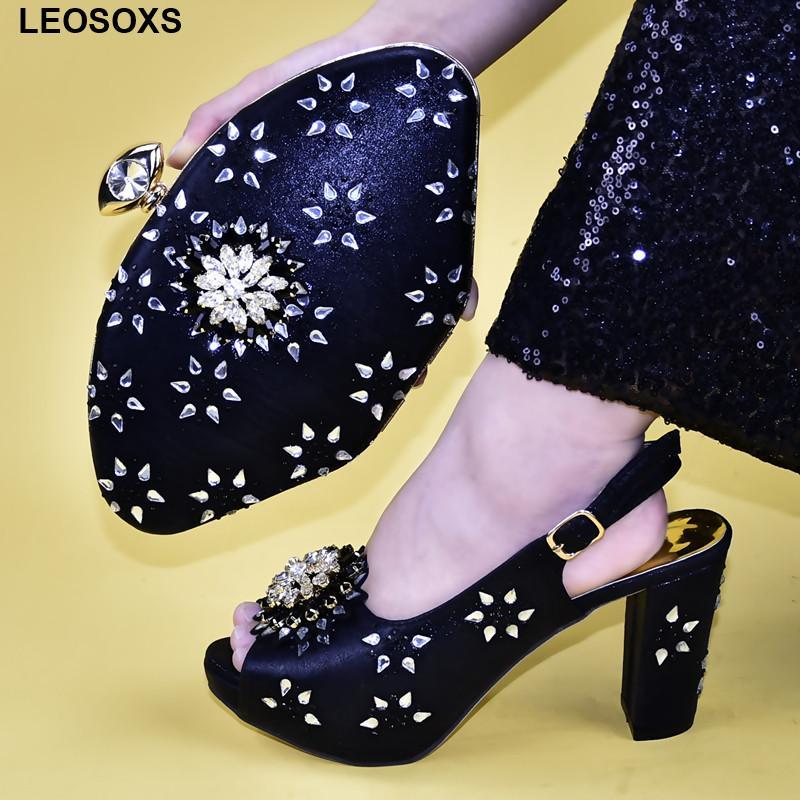 Zapato nuevo de la manera y empaqueta el sistema de partido En las mujeres altos Super High (8 cm arriba) mayor del partido 2019 zapatos de boda y Matching