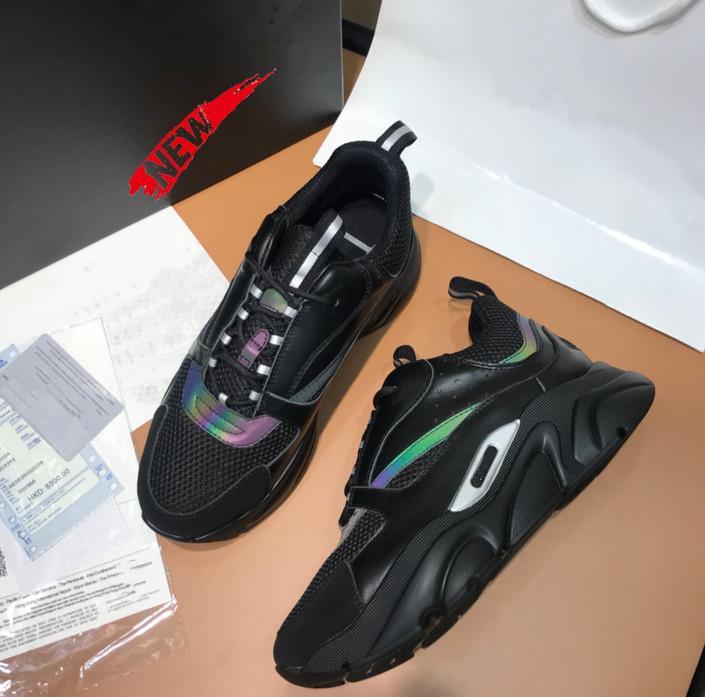 B22 Technische Knit Und Kalbsleder-Turnschuh-Frauen-beiläufige Breathable Ineinander greifen Sports Luxus-Designer-Schuhe Speed Trainer Men Fashion Sneaker M40