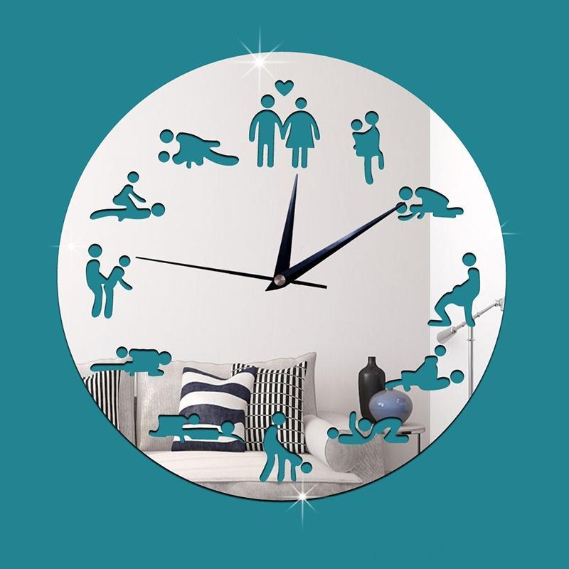 النادي الليلي الجنس الصفقات نيون LED ساعات الحائط الرئيسية DCOR ديكور مضيئة ساعة الحائط الكبار Gfit J99Store