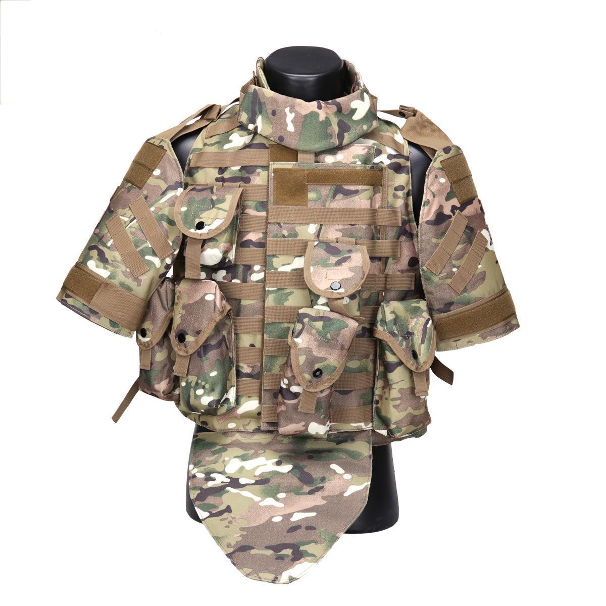 OTV Tactical Vest Tarnung Body Armor Kampfweste mit Beutel / Pad USMC Airsoft Armee Molle Angriffs-Platten-Fördermaschine CS Kleidung