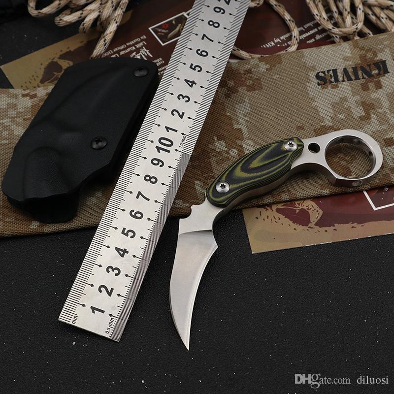 D2 bıçak karambit bıçak EDC açık yarar avcılık sağkalım taktik sabit bıçak bıçak avcılık cs go bıçakları knive Bıçaklar