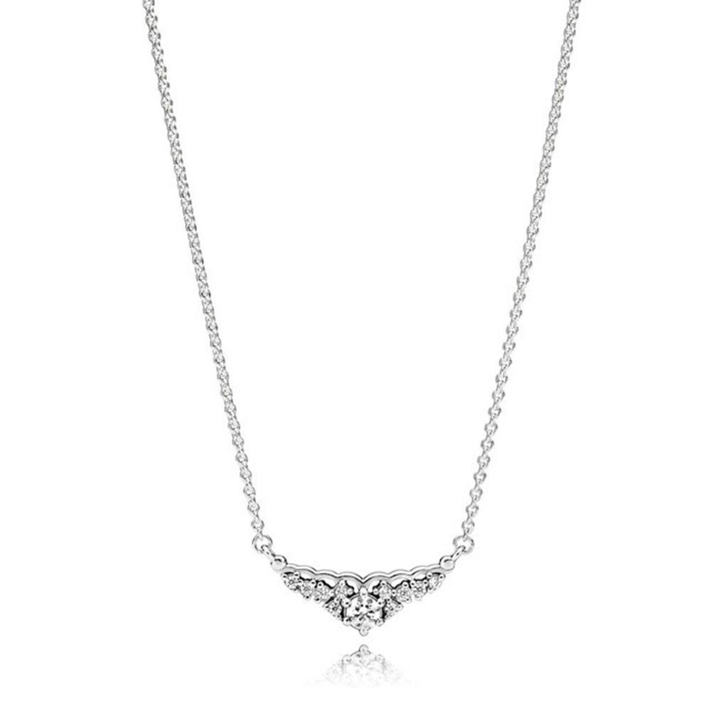 Новое прибытие 100% 925 стерлингового серебра Pave Fairytale Корона ожерелье способа изготовления ювелирных изделий для женщин подарки бесплатной доставкой