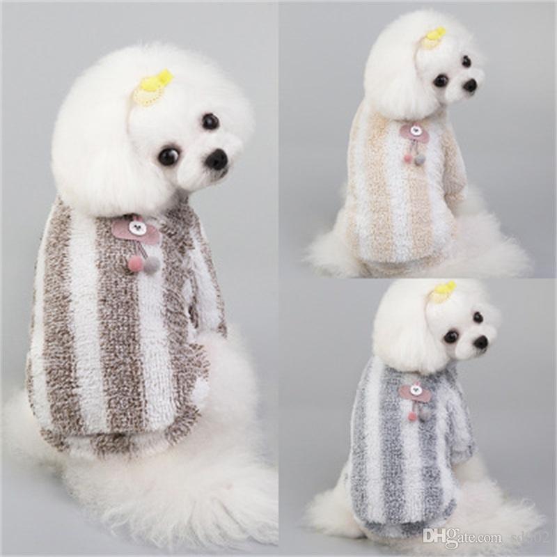 الحيوانات الأليفة القطن المخملية ملابس الخريف جميل الكلاب الشريط دافئ الملابس سترة الصغيرة الأرنب أجزاء الصدرية لينة 8 1GL H1