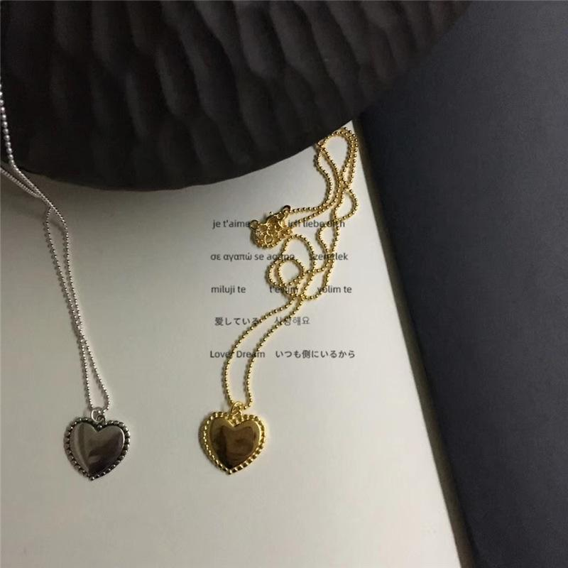 INS Simple Style Women Pendant Cute Love Girls Pendant Necklaces Hip Hop High Street Ladies Chain for Party
