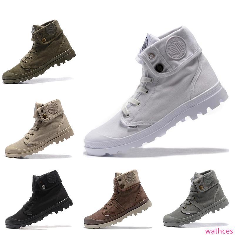 Geliş tasarımcı Paladyum erkek kadın kış marka botlar beyaz, kırmızı, gri, pembe, mor, kırmızı asker yeşili gündelik eğitmenler ACE botları boyutu 36-45