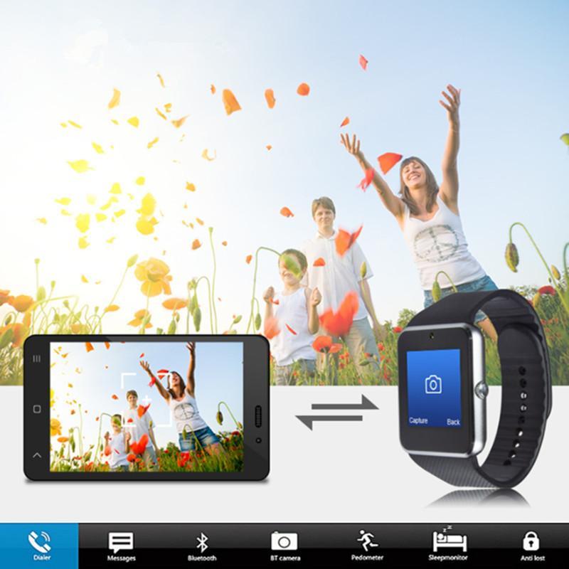 الجملة الذكية الساعات GT08 مع فتحة بطاقة SIM والساعات الصحة NFC لالروبوت سامسونج وIOS فون الهاتف الذكي سوار Smartwatches