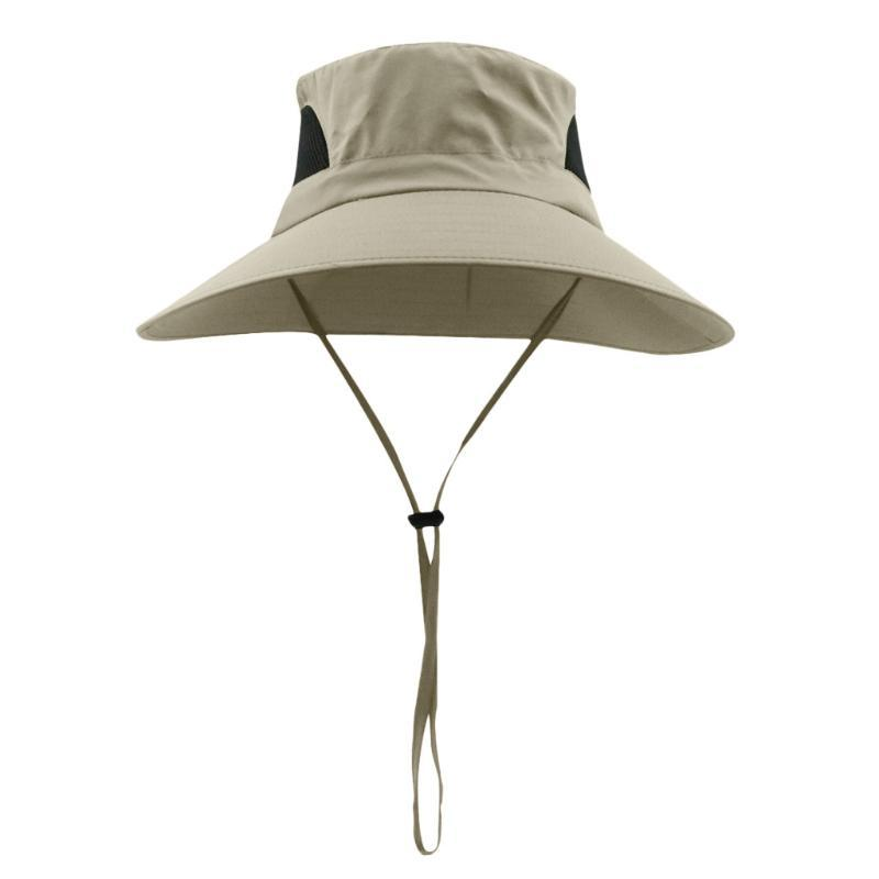 simple Summer Parent-child Beach Hat Female Casual Sun Protection Wide Bucket Hats Waterproof Breathable Boonie Hat For Fishing