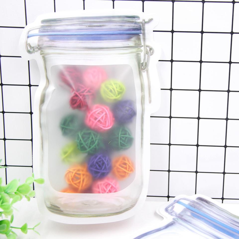 Convenient PE Nuts Cookies Candy Snacks Sealed Plastic Bag Supplies Bottles Bags
