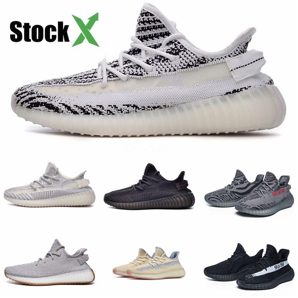 Обувь Женщины Мужчины кроссовки дизайнер кроссовок Citrin Облако Белый Светоотражающие Non -Reflective Glow Synth Antlia Kanye West Sport Runner # QA388