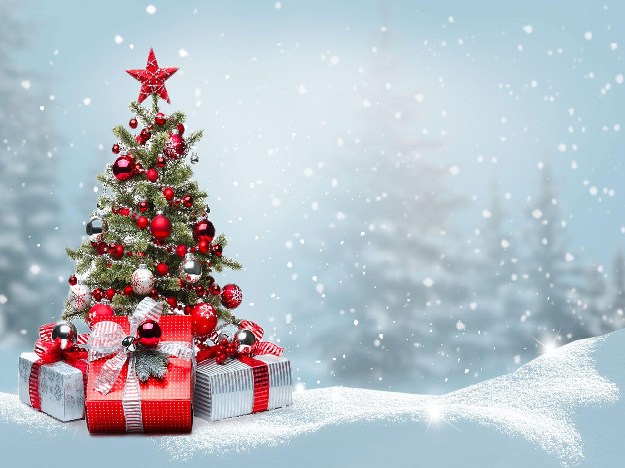Beaux cadeaux d'arbre de Noël Boîtes Vinyle Photographie de photographie de flocon de neige Fonds de stand de flocons de neige pour accessoires de studio d'hiver