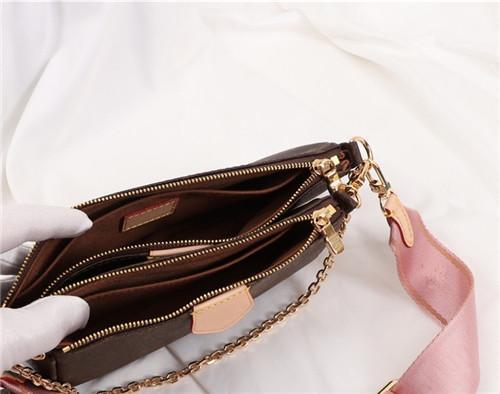 bolsos de la marca MULTI POCHETTE ACCESSOIRES 2019 nueva cadena de marca bolso crossbody bolsos de lujo del diseñador del bolso pequeño de hombro de la manera de las mujeres