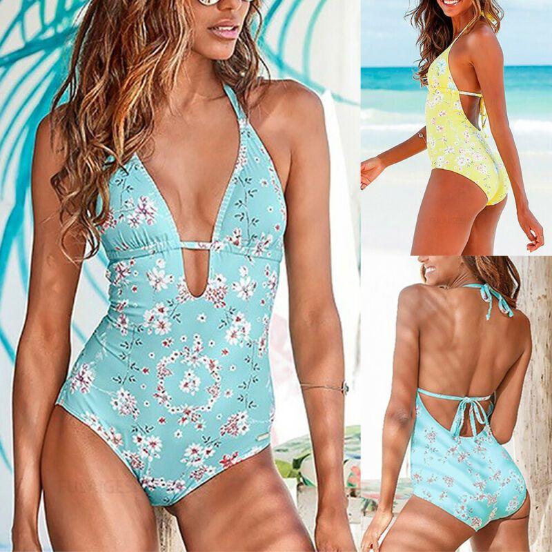 Fashion Women Lady Bikini Swimming Costume Backless One Piece Swimsuit Swimwear