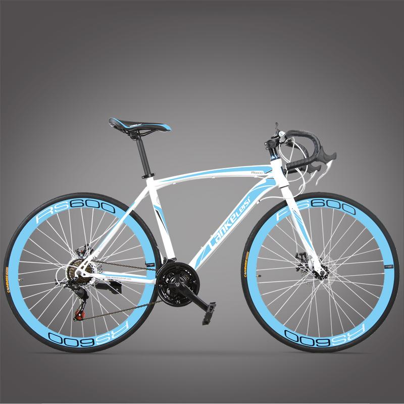 New Brand Road Bike Carbon Steel Frame 700CC Wheel 21 27 Speed Dual Disc Brake Bicicleta Outdoor Cycling Bicycle