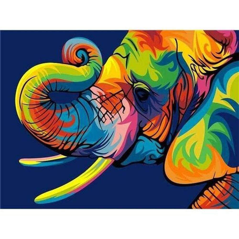 5D bricolage diamant peinture couleur éléphant animaux diamant peinture animaux diamant broderie enfants cadeau Home Décor